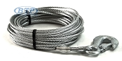 Boat Trailer Winch Cable Galvanized 3/16 inch x 50 foot with Hook