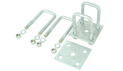 Galvanized Leaf Spring U-Bolt Mounting Kit