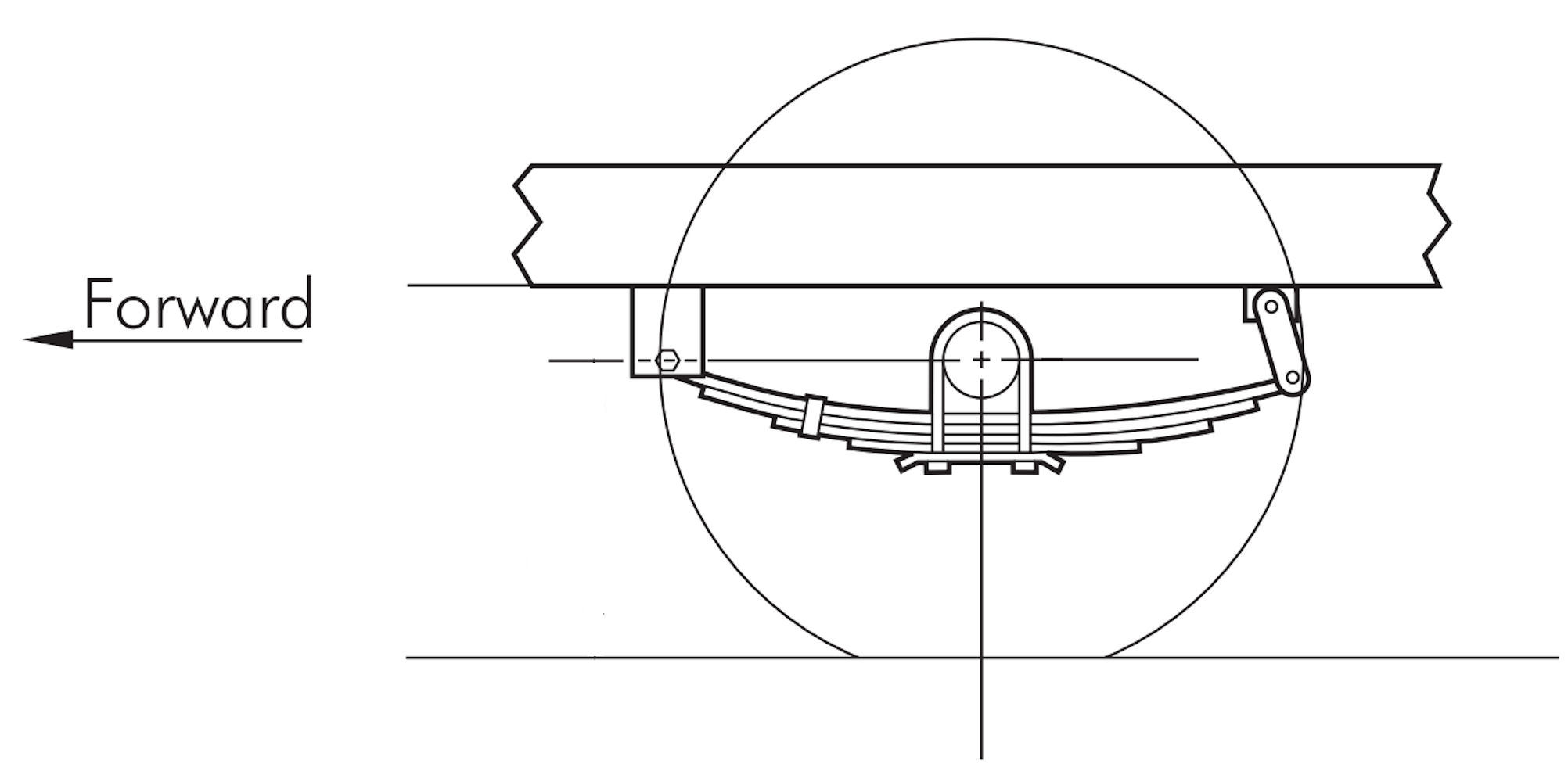 LIBRA Trailer Leaf Spring Hanger Kit for Double Eye Springs Single Axle Suspension