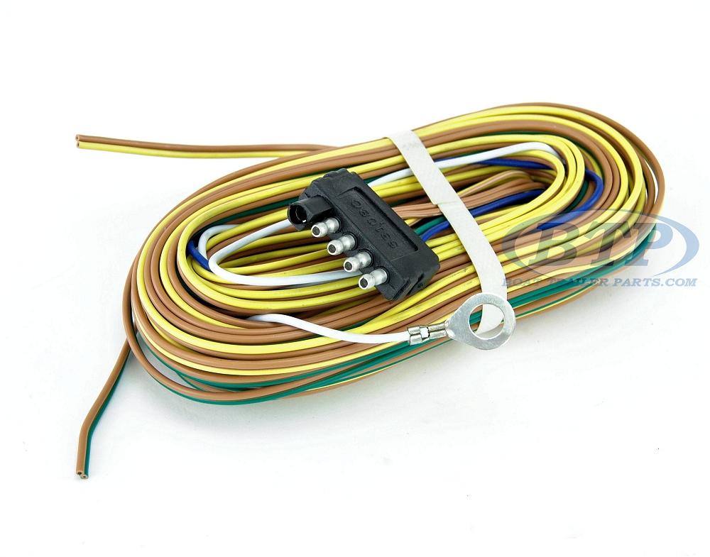 5FlatHarness BTP 3 boat trailer light wiring harness 5 flat 35ft to re wire trailer trailer wiring harness clips at bayanpartner.co