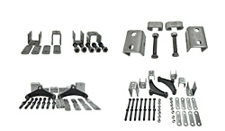 Boat Trailer Raw Steel Leaf Spring Hanger Kits