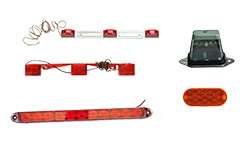 14 Inch Submersible 7 Degree Bend LED Identification Trailer Light Bar
