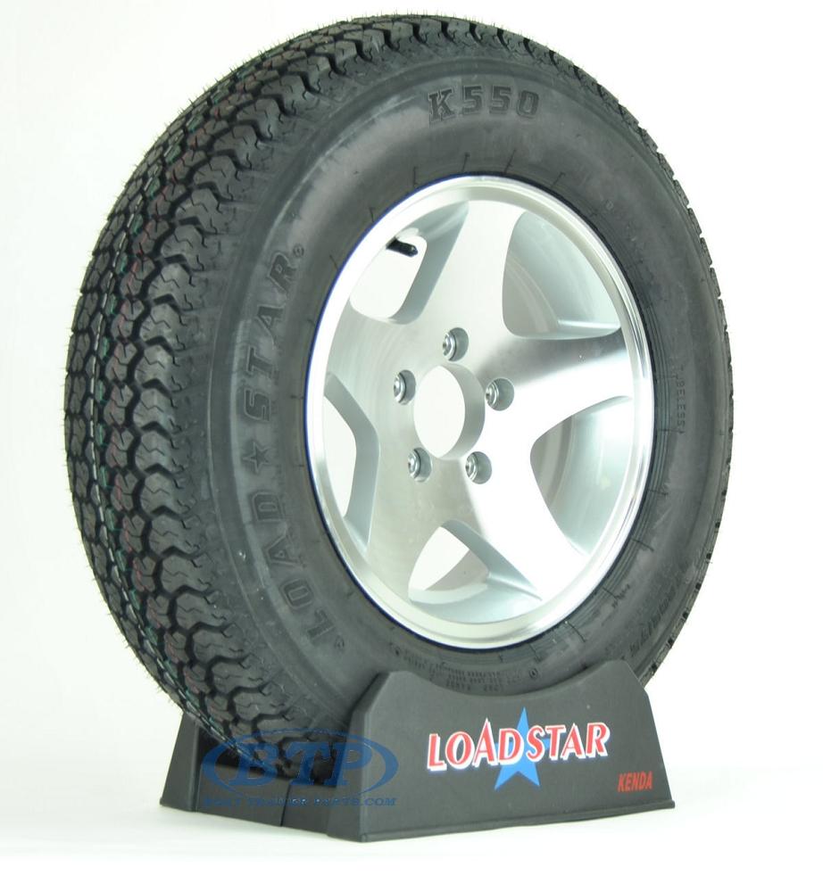 Boat Trailer Tire St205 75d14 On Aluminum Wheel 5 Lug 5