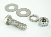 1/2 inch Diameter by 1 1/2 inch Long Stainless Steel Bolt