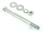 1/2 inch Diameter by 6 inch Long Stainless Steel Trailer Bolt