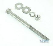 1/2 inch Diameter by 7 inch Long Stainless Steel Trailer Bolt