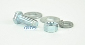 3/8 inch Diameter by 1 inch Long Zinc Plated Bolt