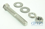 3/8 inch Diameter by 2 1/2 inch Long Stainless Steel Bolt