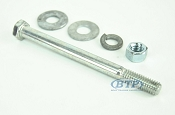3/8 inch Diameter by 4 1/2 inch Long Zinc Plated Trailer Bolt