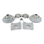 Kodiak Integral Disc Brake Kit Dacromet Coat 8 Lug 7,000lb Axles 13 inch