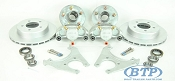 Kodiak Trailer Slip-on Disc Brake Kit All DAC 5 Bolt w/ Hubs