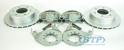 Kodiak Boat Trailer Slip-on Disc Brake Kit ALL Dacromet 6 Lug