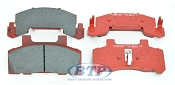 Kodiak Trailer Disc Brake Pad Ceramic Set for 225 Brake Caliper