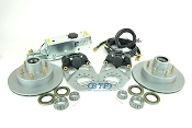 Tie Down 12 inch Vented Integral Single Axle Disc Brake Kit w/ Actuator