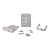 Set of 2 - 6 inch (1/4 inch thick) Stainless Steel Boat Trailer Bunk Brackets L-Type