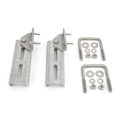 Set of 2 - Bunk Bracket Swivel Top 8 inch All Aluminum Kit for Bunk Boards