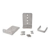 Set of 2 - 8 inch (1/4 inch thick) Stainless Steel Boat Trailer Bunk Bracket Kit L-Type