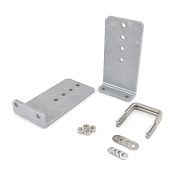 Set of 2 - 10 inch Heavy Duty Aluminum Boat Trailer Bunk Brackets L-Type Kit