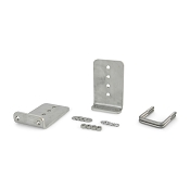 Stainless Steel 8 inch Boat Trailer Bunk Bracket Kit (L-Type) Kit