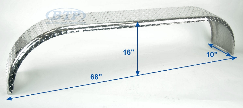 Aluminum Trailer Fenders : Aluminum diamond plate boat trailer fender tandem axle
