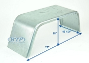 Galvanized Single Axle Boat Trailer Fender 10 inch x 29 inch x 10 inch