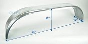 Galvanized Boat Trailer Fender Tandem Axle 10 in x 64 in x 16 in