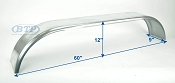 Galvanized Boat Trailer Fender Tandem Axle 9 in x 60 in x 12 in