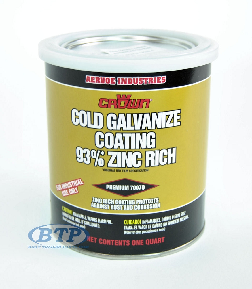 1 quart zinc rich cold galvanized paint for boat trailers