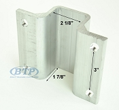 2 inch Aluminum Boat Trailer Hat Bracket for Boat Trailer Bow Guide