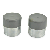 (PAIR) Trailer Bearing Protectors Chrome with Rubber Covers for 4 or 5 lug hubs (1.980)