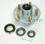Boat Trailer Hub Galvanized 5 Lug with Bearings fits 3500 lb. Axles