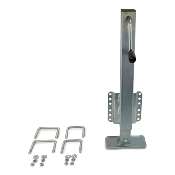 Boat Trailer Dropfoot Jack 2.5k Capacity with Hardware for 3x3 and 3x4 Trailer Tongue
