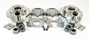Kodiak Trailer Slip On 6 Lug Disc Brake Kit ALL STAINLESS w/Stainless Hubs