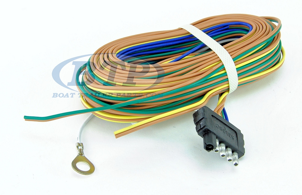 5flatharness btp boat trailer light wiring harness 5 flat 35ft to re wire trailer trailer lights wiring harness kit at readyjetset.co