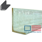 Galvanized Steel Angle 3 inch tall x 2 inch wide 3/16 inch Thick Cut to Order