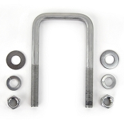 Stainless Steel Square Ubolt 3/8 inch x 2 inch x 3 7/8 inch