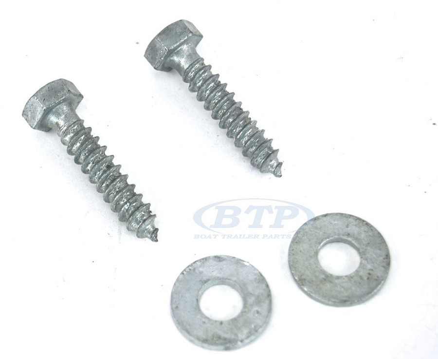 (PAIR) 5/16 x 1 1/2  Galvanized Lag Screws for Swivel Top Bunk Bracket