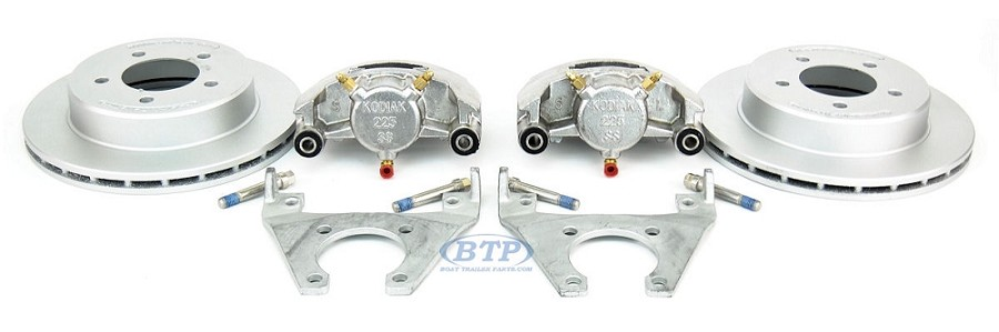 Kodiak Trailer Slip-on Disc Brake Kit Dacromet / Stainless 5 Lug