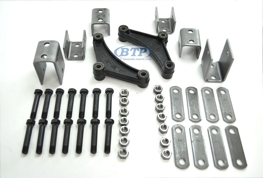 Trailer Tandem Axle Double Eye Leaf Spring Hanger Kit