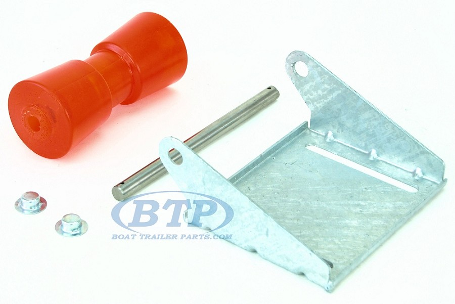 8 inch Stoltz Keel Roller Assembly Kit with Stainless Shaft and Bracket