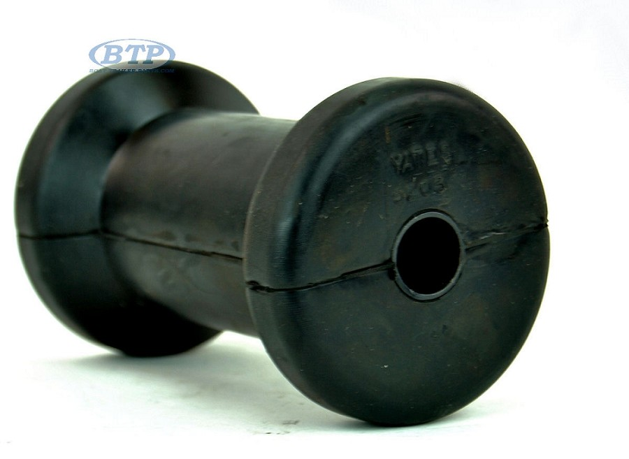 5 inch Black Rubber spool Roller 1/2 Bore