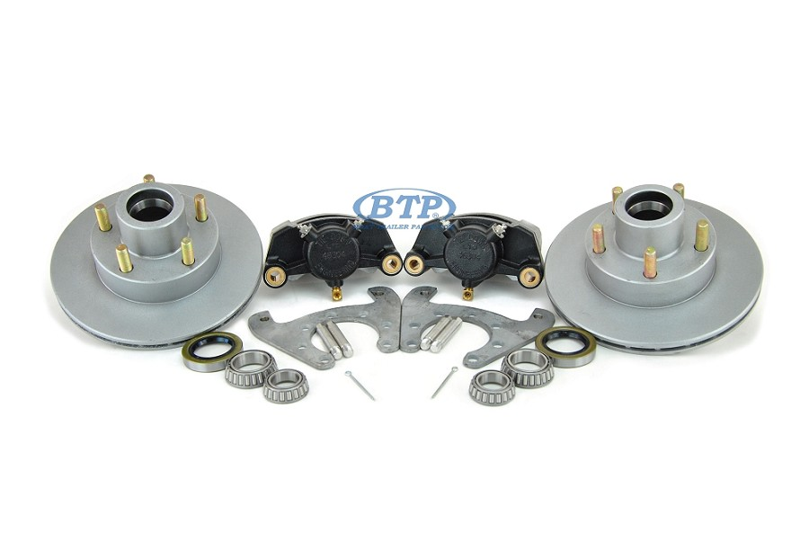 Tie Down 9.6 inch Vented Boat Trailer Disc Brake Kit 5 Lug Aluminum Caliper