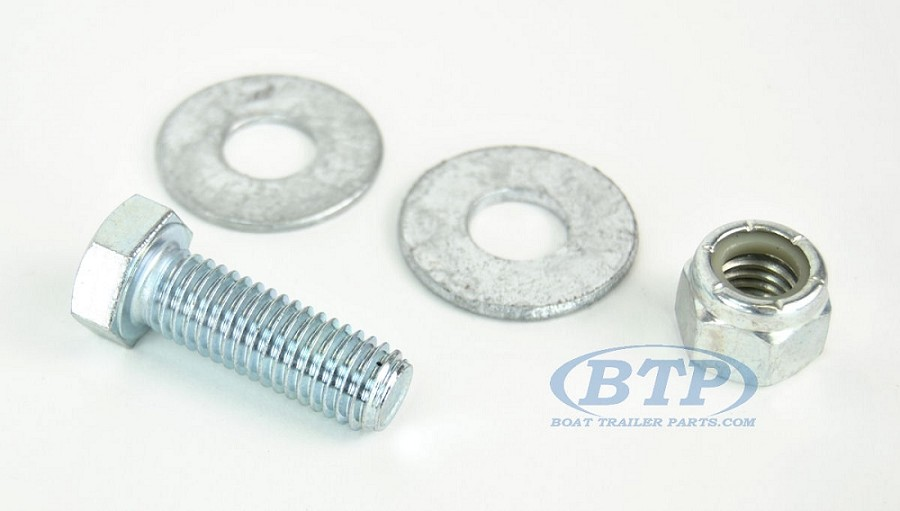 1/2 inch Diameter by 1 1/2 inch Long Zinc Plated Trailer Bolt
