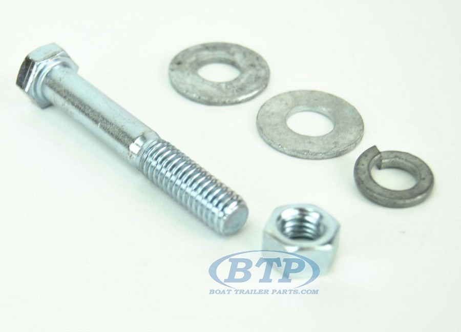 3/8 inch Diameter by 2 1/4 inch Long Zinc Plated Trailer Bolt