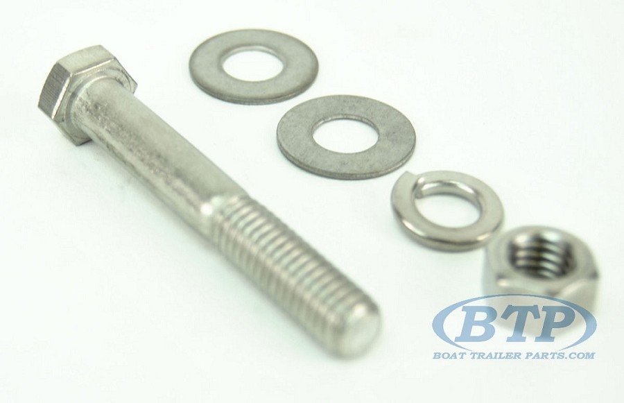 3/8 inch Diameter by 3 inch Long Stainless Steel Bolt