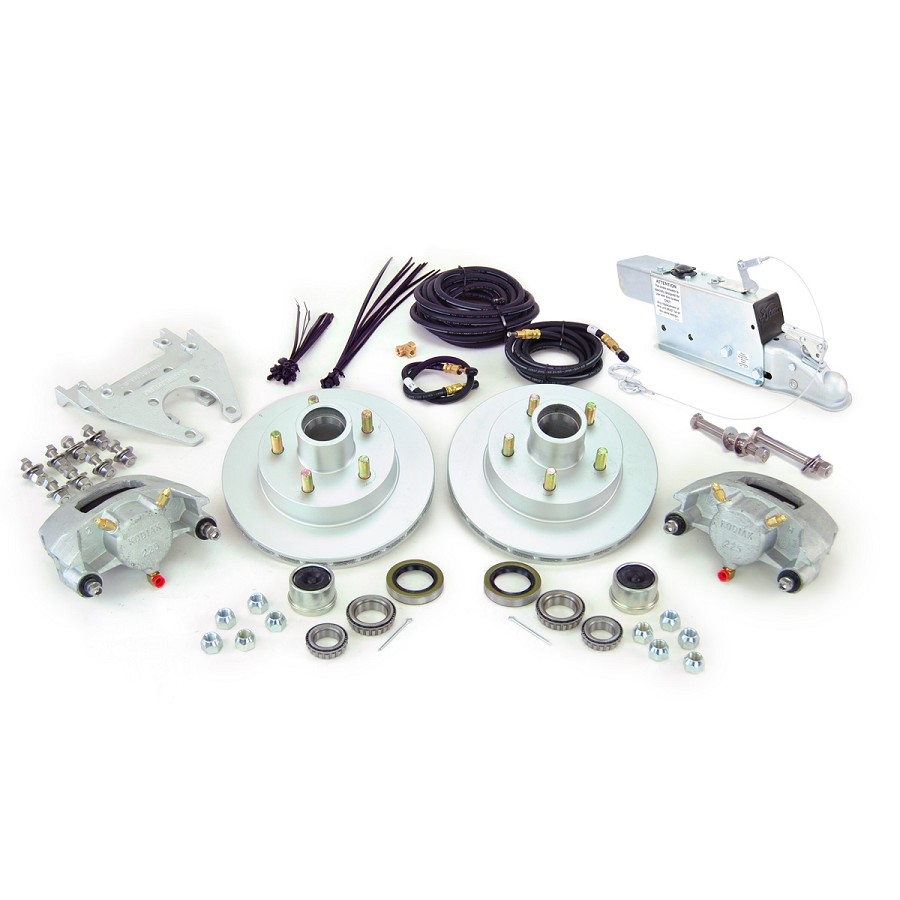 Boat Trailer Kodiak Disc Brake Kit Single Axle Assembly with Demco DA66B (6,000lb)  Actuator