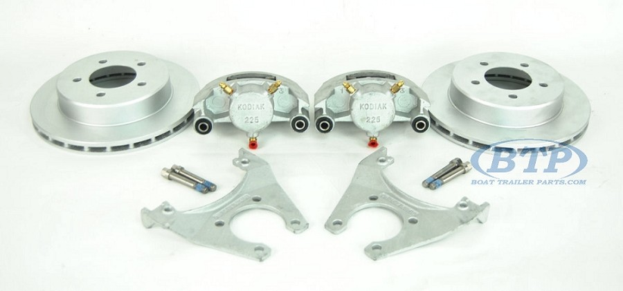Kodiak Boat Trailer Slip-on Disc Brake Kit ALL Dacromet 5 Lug