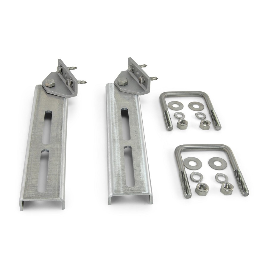 Set of 2 - Bunk Bracket Swivel Top 12 inch All Aluminum Kit for Bunk Boards