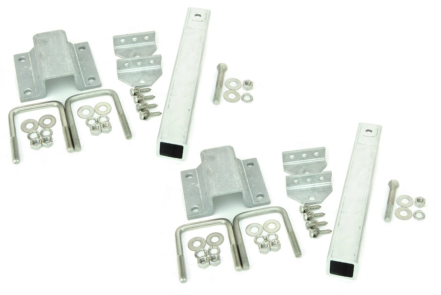 Set of 2 - Ultimate Aluminum and Stainless Steel Swivel Top Bunk Bracket 14 inch 2x2 kit