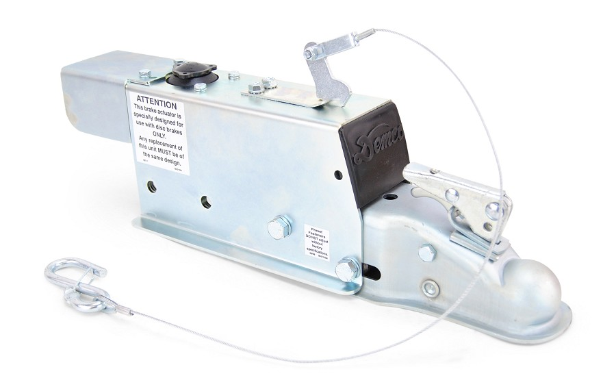 "Demco Hydraulic Surge Actuator for Disc Brakes 6000lb Capacity with Electric Lockout Solenoid 2"" Ball"